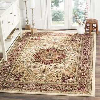 Safavieh Lyndhurst Traditional Oriental Ivory/ Red Rug - 6' x 6' Square
