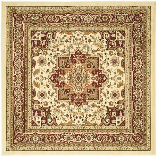 Safavieh Lyndhurst Traditional Oriental Ivory/ Red -Style Rug (8' x 8' Square)