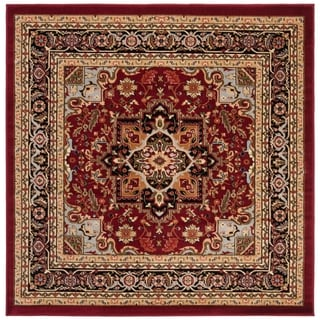 Safavieh Lyndhurst Traditional Oriental Red/ Black Area Rug (6' x 6' Square)