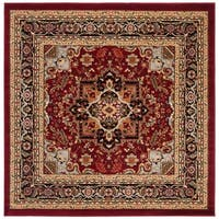Safavieh Lyndhurst Traditional Oriental Red/ Black Area Rug - 6' x 6' Square