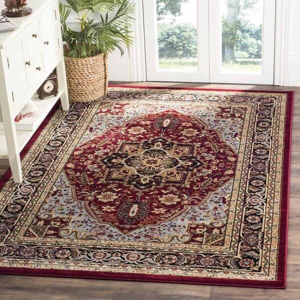 Safavieh Lyndhurst Traditional Oriental Red/ Black Rug - 8' x 8' Square