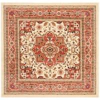 Safavieh Lyndhurst Traditional Oriental Ivory/ Rust Rug - 6' x 6' Square