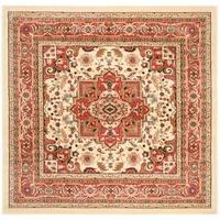 Safavieh Lyndhurst Traditional Oriental Ivory/ Rust Rug (8' x 8' Square) - 8' Square