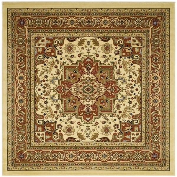 Safavieh Lyndhurst Traditional Oriental Ivory/ Rust Rug (8' x 8' Square)