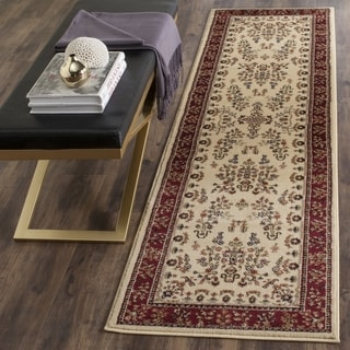 Safavieh Lyndhurst Traditional Oriental Ivory/ Red Runner (2' 3 x 22')