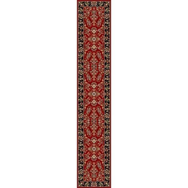 Safavieh Lyndhurst Traditional Oriental Red/ Black Runner (2' 3 x 16')