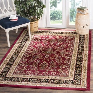 Safavieh Lyndhurst Traditional Oriental Red/ Black Rug (8' x 8' Square)
