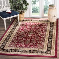 Safavieh Lyndhurst Traditional Oriental Red/ Black Rug (8' x 8' Square) - 8' Square