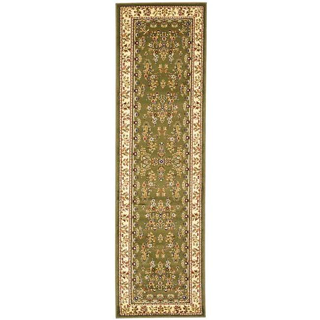 Safavieh Lyndhurst Traditional Oriental Sage/ Ivory Runner Rug - 2' 3 x 16'
