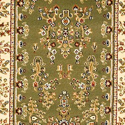 Safavieh Lyndhurst Traditional Oriental Sage/ Ivory Runner (2' 3 x 16') - Thumbnail 2