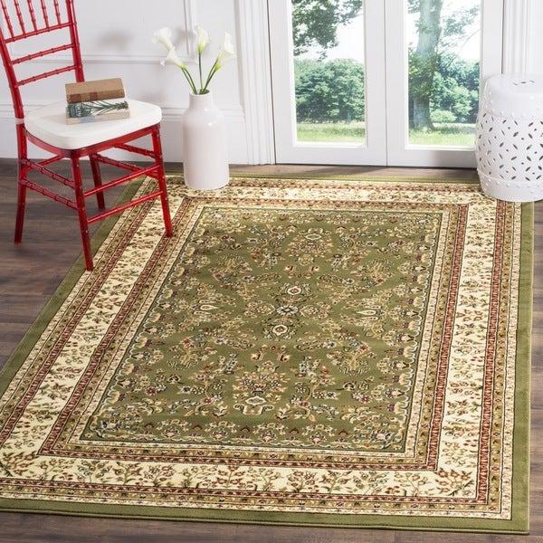 Safavieh Lyndhurst Traditional Oriental Sage/ Ivory Rug - 6' x 6' Square