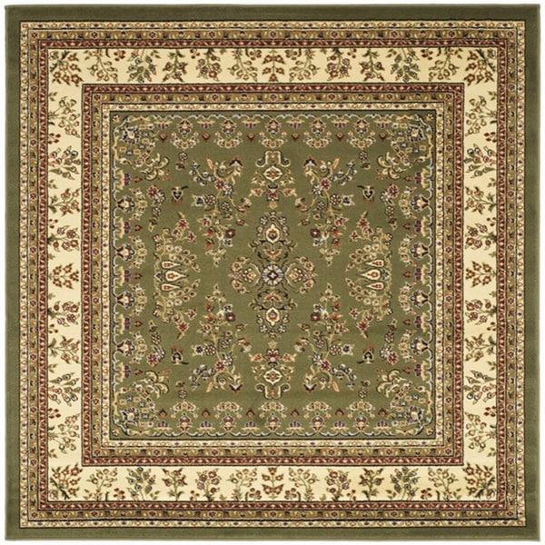 Safavieh Lyndhurst Traditional Oriental Sage/ Ivory Rug (8' x 8' Square)