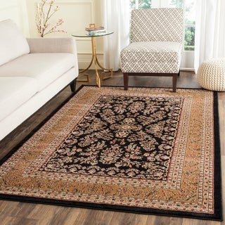Safavieh Lyndhurst Traditional Oriental Black/ Tan Rug (4' x 6')