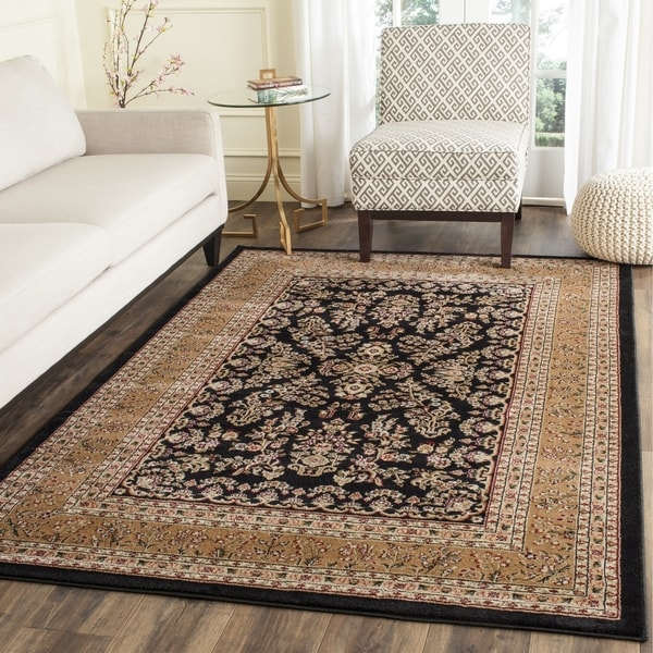 Safavieh Lyndhurst Traditional Oriental Black/ Tan Rug - 4' x 6'