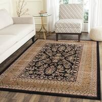 Safavieh Lyndhurst Traditional Oriental Black/ Tan Rug - 6' x 6' Square