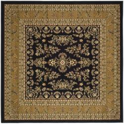 Safavieh Lyndhurst Traditional Oriental Black/ Tan Rug (8' x 8' Square)