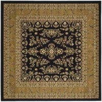 Safavieh Lyndhurst Traditional Oriental Black/ Tan Rug - 8' x 8' Square