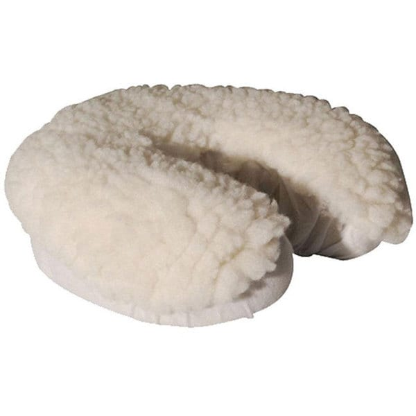 White Synthetic Fleece Face Rest Cover