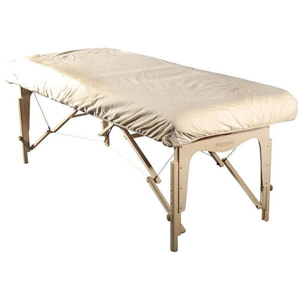 White Flannel-fitted Massage Table Cover