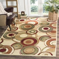 Safavieh Lyndhurst Contemporary Ivory/ Multi Rug - 6' x 6' Square