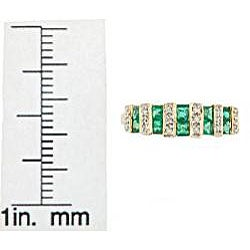 D'Yach 14k Yellow Gold Square-cut Emerald and Diamond Accent Ring