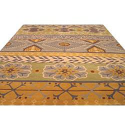 Hand-tufted Cabaret Abstract Wool Rug (7'9 x 9'9) - Thumbnail 2
