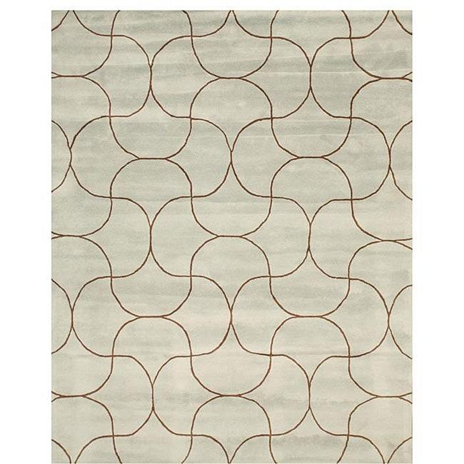 Hand-tufted Santana Abstract Wool Rug (7'9 x 9'9) - 7'9 x 9'9