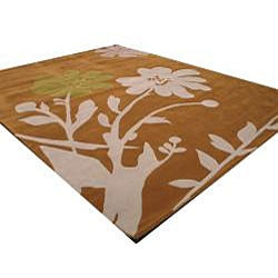 Hand-tufted Porto Floral Wool Rug (7'9 x 9'9) - Thumbnail 1