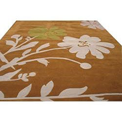 Hand-tufted Porto Floral Wool Rug (7'9 x 9'9) - Thumbnail 2