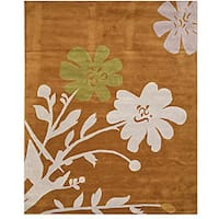 Hand-tufted Porto Floral Wool Rug (7'9 x 9'9) - 7'9 x 9'9