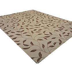 Hand-tufted Santiago Floral Wool Rug (7'9 x 9'9)