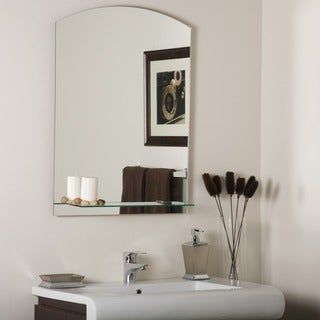 The Arch Frameless Mirror with Shelf