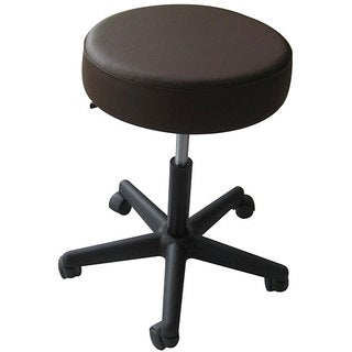 Rolling Adjustable Chocolate Medical/ Massage Stools (Pack of 2)