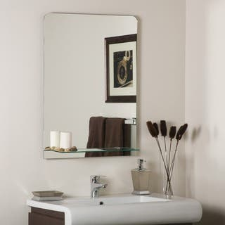 columbus frameless wall mirror - Bathroom Sink And Mirror