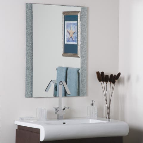 Dune Frameless Wall Mirror - Silver - A/N
