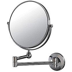 DeNovo Round Wall-mount Chrome Magnifier Mirrors (Case of 28)