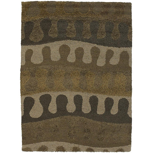 """Artist's Loom Hand-tufted Contemporary Abstract Rug (5'6 x 7'9) - 5'6"""" x 7'9"""""""