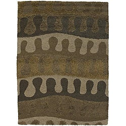 Artist's Loom Hand-tufted Contemporary Abstract Rug (5'6 x 7'9)
