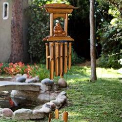 Handmade Bamboo and Wood Buddha Altar Chime (Indonesia)