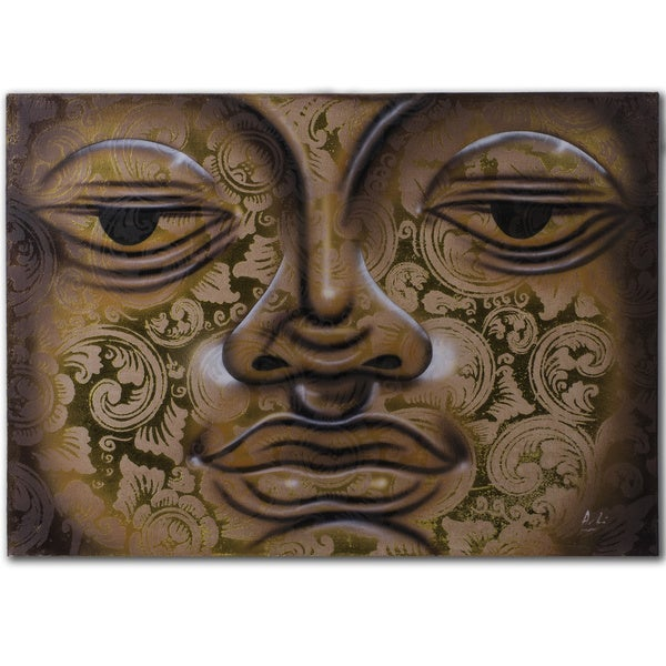 Water Technique Buddha Painting (Indonesia)