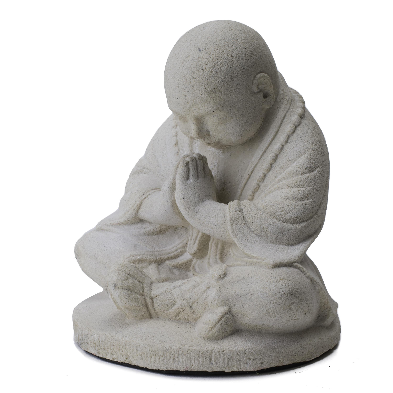 Handmade Baby Namaste Praying Monk Sculpture (Indonesia) ...