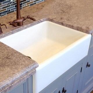 HighPoint White Fireclay 30 Inch Farm Sink