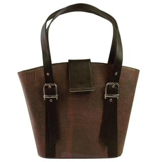 Handmade Recycled Plastic Redwine Highstreet Handbag (India)