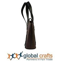 Handmade Recycled Plastic Redwine Highstreet Handbag (India)
