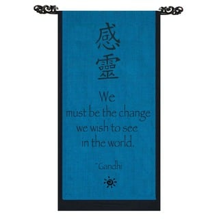 Be The Change' Ganhdi Quote Scroll, Handmade in Indonesia