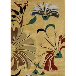 Alliyah Handmade Cornstalk New Zealand Blend Wool Rug (5' x 8')
