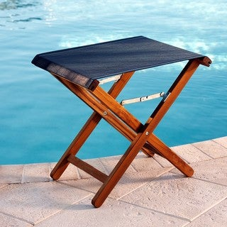 Teak Folding Side Table/ Footrest