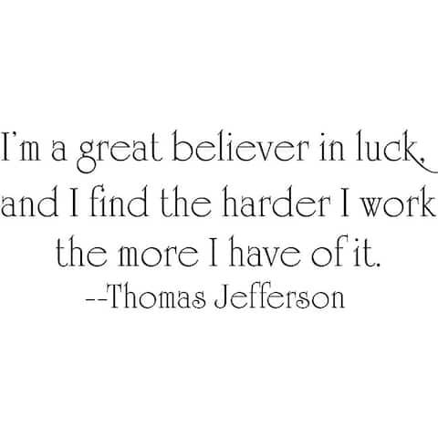 Design on Style Thomas Jefferson 'Luck' Vinyl Wall Art Quote