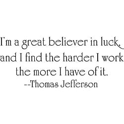 Design on Style Thomas Jefferson 'Luck' Vinyl Wall Art Quote