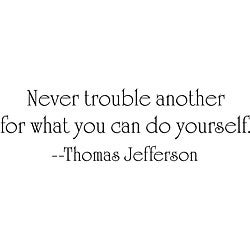 Design on Style Thomas Jefferson 'Trouble' Vinyl Wall Art Quote